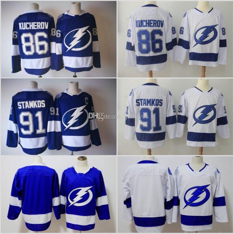 Hockey Tampa Bay Lightning Jerseys 25th 91 Steven Stamkos 77 Victor ... 0787dee02