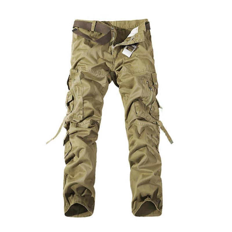 Bolsillos Casuales Nuevo Decoración Cargo 2018 Lavado Hombres Multi Hombre Compre Ejército Para Plus Size Pantalones Pantalones Fácil 42 Masculino Verde Cqa57tww