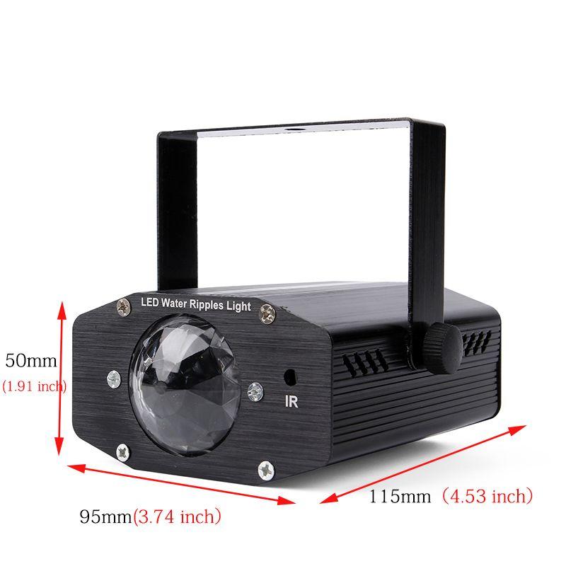 Projecteur laser de Noël de lumières disco parti de la lumière de la disco Dj à distance d'ondes d'ondes de la vague d'eau à distance RGBW LED