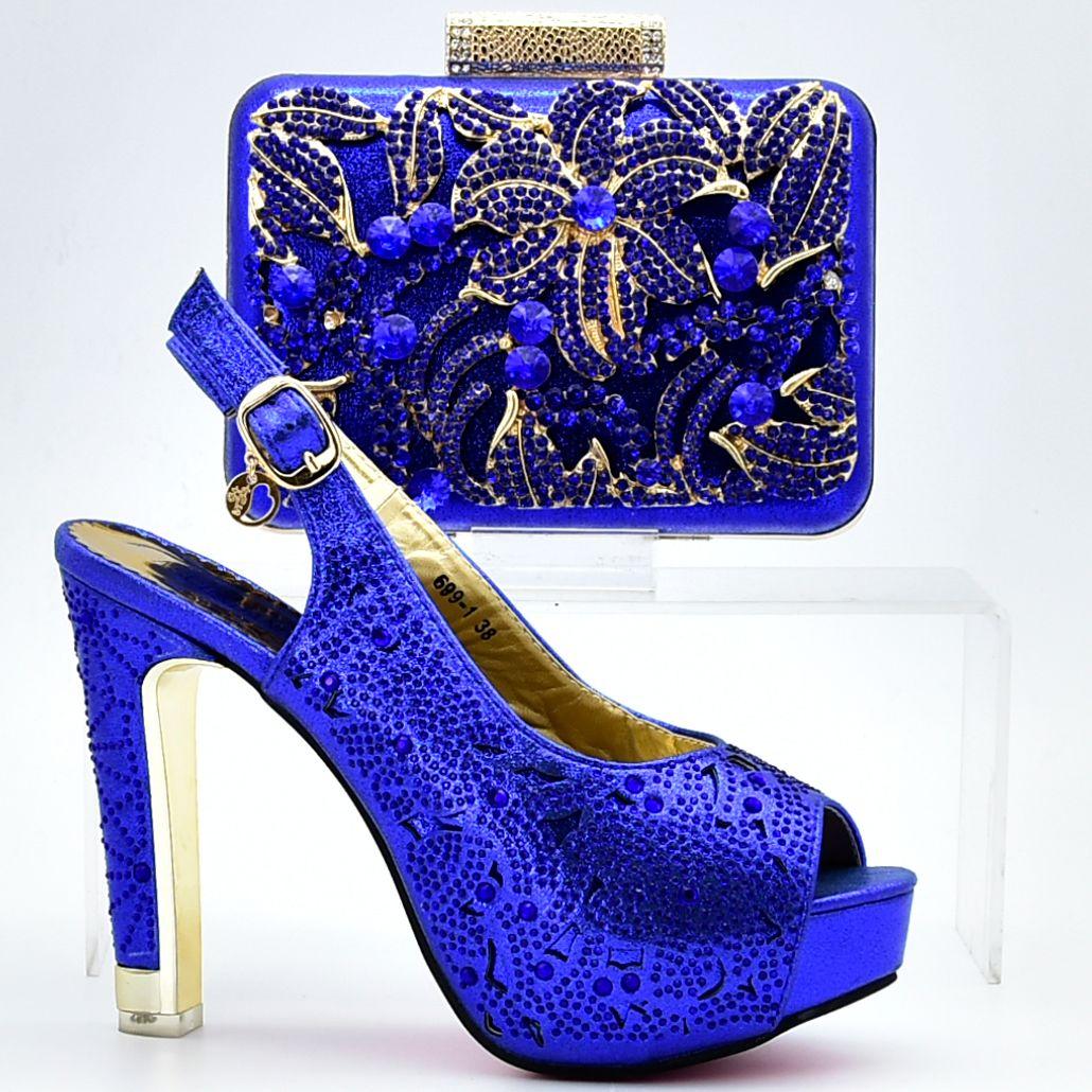 8830c82aec Compre Atacado Italiano Sapatos E Saco De Sapato Africano E Saco Definido  Para As Mulheres Do Partido Da Nigéria Senhoras Designer Saco De  Harmonização De ...