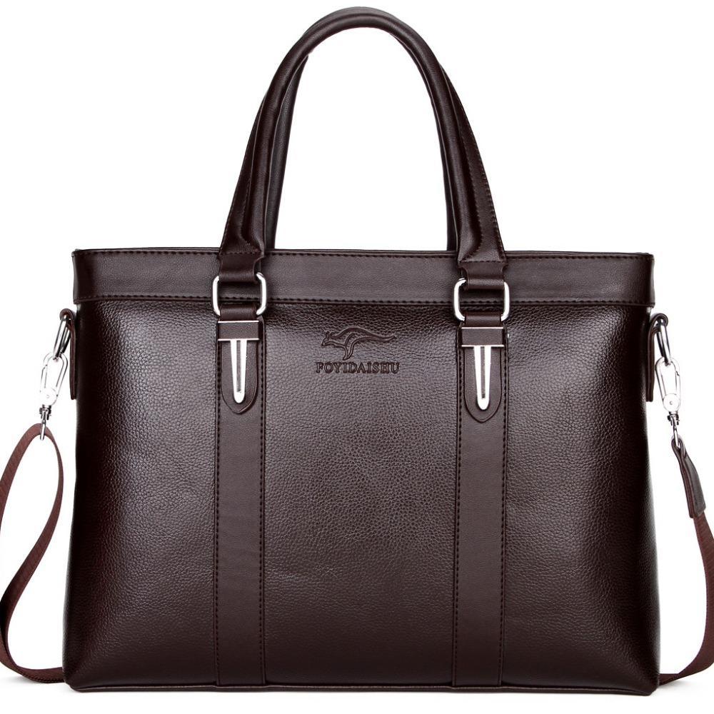 c3e5cfe7c 2019 Best Leather Kangaroo Men Briefcase Bolsa Business Shoulder Bag Casual  Men Crossbody Messenger Bag For A4 Document L151 Man Bags Leather Satchel  From ...