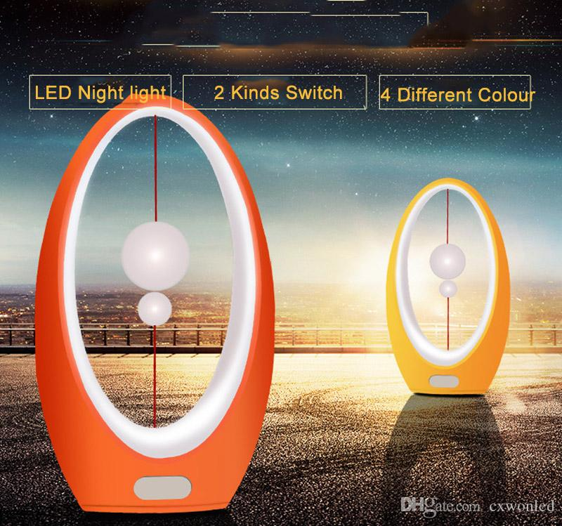 USB Rechargeable Night lamp 2W 4 Colour Table Lamp ABS Baby Night Light Motion and Press Switch control