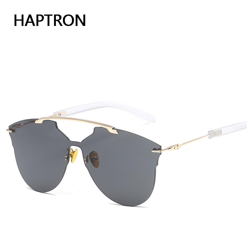 b5c7d121a7 Compre HAPTRON Alta Calidad 2019 NUEVA Moda Gafas De Sol Sin Marco Mujeres  Gradient Alloy Frame Marca Gafas Diseñador A $36.25 Del Htiancai    DHgate.Com