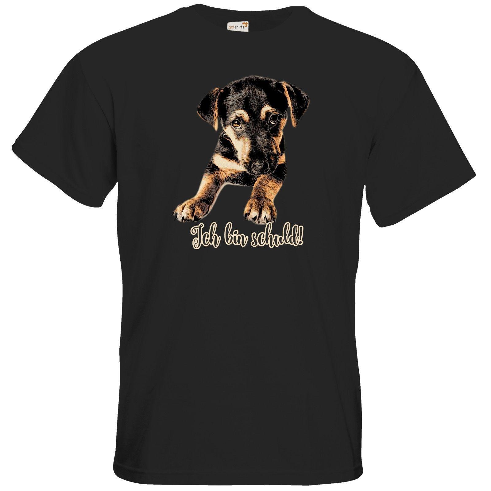 3b16a2af1 TShirt Hund Ich Bin Schuld Mens 2018 Fashion Brand T Shirt O-Neck ...