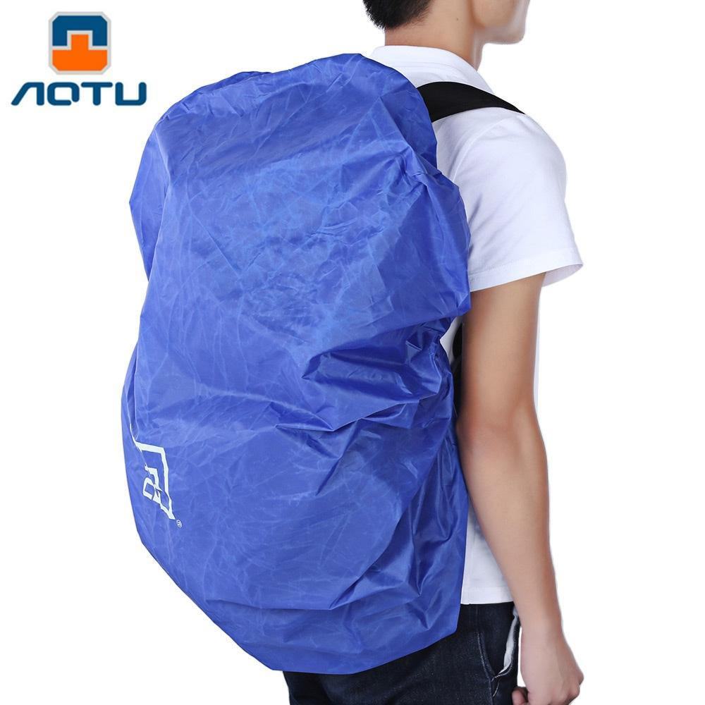 2019 AOTU 40 90L Water Resistant Rain Cover Backpack For Outdoor Climbing  Taffeta Rain Cover Water Resistant Outdoor Sport Bag Backpack Cover From ... 098f4ed9e767c