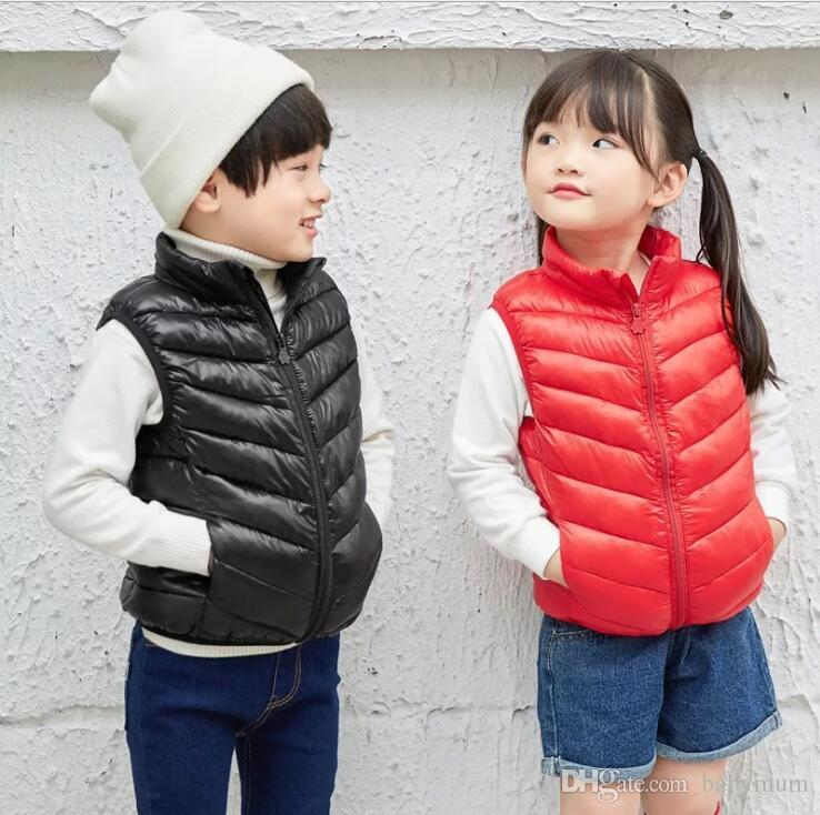 infant warm down jackets Autumn winter baby outwear ultralight kids Down vest Cotton Warm Clothes for Boy Girl Thick Toddler coats