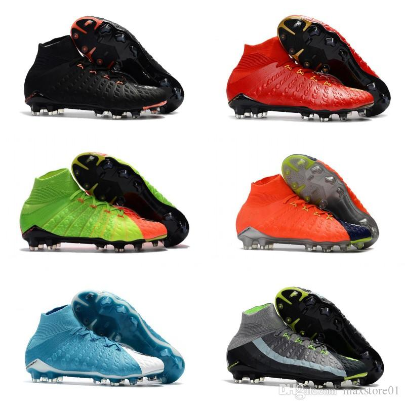 Compre 2018 Hombres Tobillo Alto FG AG Botines De Fútbol Hypervenom Phantom  DF Zapatos De Fútbol IC Botas De Fútbol Botines Hombres Al Aire Libre  Césped ... 84facddb13a79