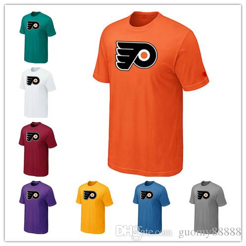 the latest fa566 8fc4c News Philadelphia Flyers Ice hockey T-shirt for men and women In the spring  and autumn Offset printing free shipping