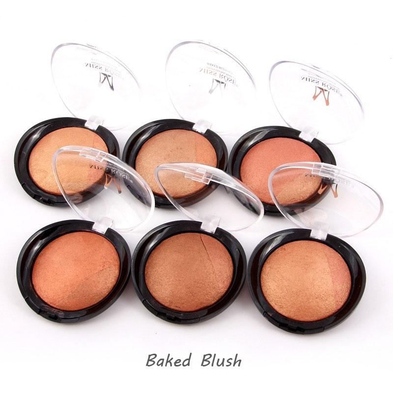 MISS ROSE Baked Blusher Professional Metallic Blush Rouge Cheek Color Makeup Quality Branded Facial Beauty Product