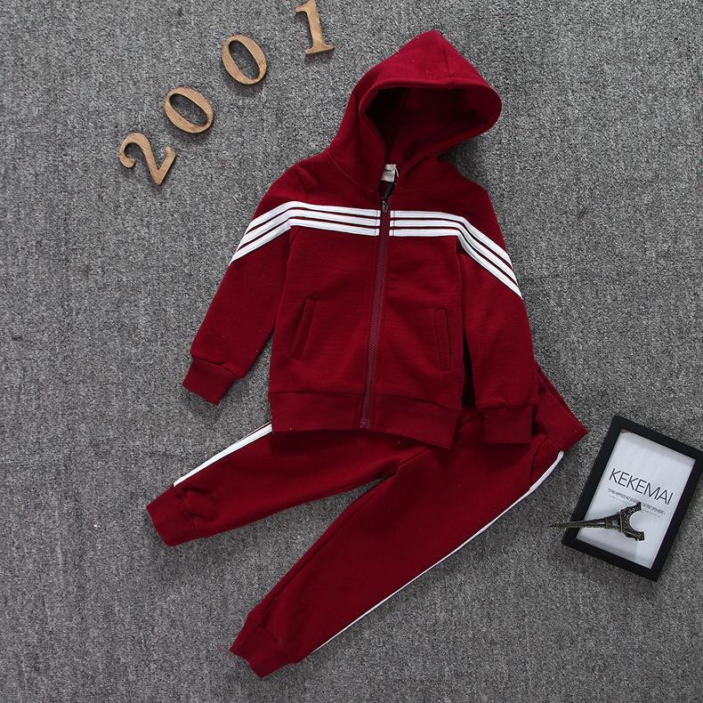 3b4d8ff4a2de25 Acquista Tute Sportive Bambini Tuta In Cotone Con Maniche Lunghe Giacca Con  Zip E Pantaloni Ragazzi Ragazze Tuta Bambini 2 Pezzi Set Di Vestiti A  $37.33 Dal ...