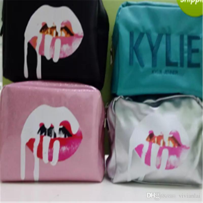 Kylie Cosmetics Bolsas por Kylie Jenner Coleção de Férias Make-Up Bag Edição Limitada Kylie Makeup Collection Bags Free
