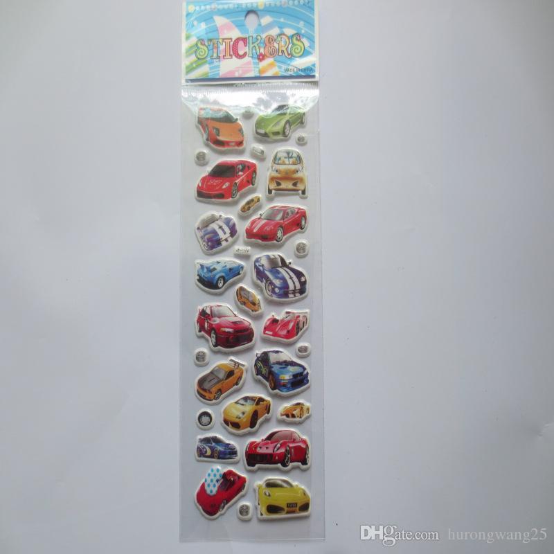 100 stücke Auto Cartoon Aufkleber für Jungen und Mädchen Dekorative Kühle Berühmte Autos Schöne Schaum Geschenk Entwickeln Intelligenz
