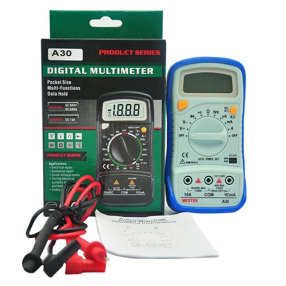 PEAKMETER Auto Range Digital Multimetro AC / DC Voltage Current Resistance Detector Handheld Temperature Capacitance Frequency