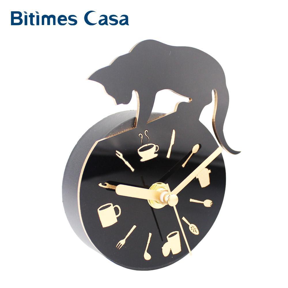 Acquista Orologio Moderno Frigorifero Fridge Magnet Cat Design ...