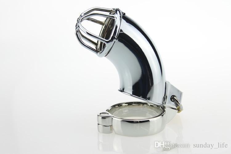 !!!Latest Design Metal male chastity device steel cock cage cb6000 penis cage chastity belt sex toys sex product for penis