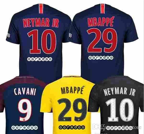 2018 2019 DANI ALVES MBAPPE NEYMAR JR Soccer Jerseys 18 19 CAVANI ... 32fe5e480