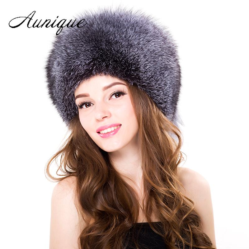 2019 2018 Women Winter Fox Fur Bomber Hats Ear Protection Silver Fox Fur  Caps Female Russian Warm Women Casual Hight Quality Hat From Alley66 9f6abf083d38