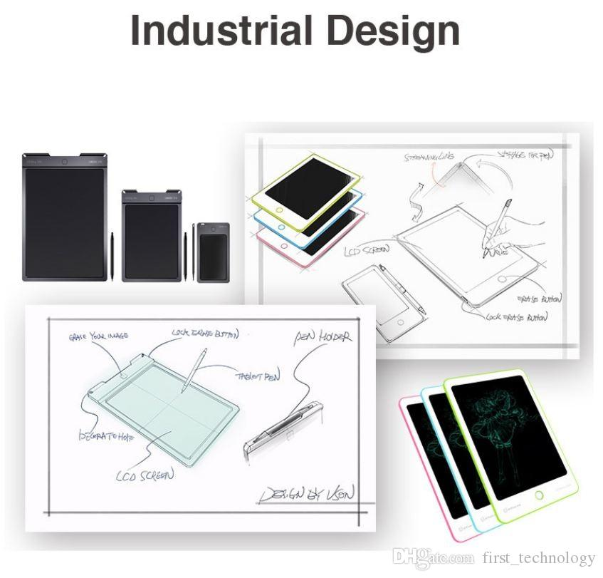 드로잉 보드 휴대용 디지털 쓰기 태블릿 LCD 쓰기 화면 + 드로잉 펜 9 인치 필기 패드 어린이 WIth 상자 드로잉 장난감