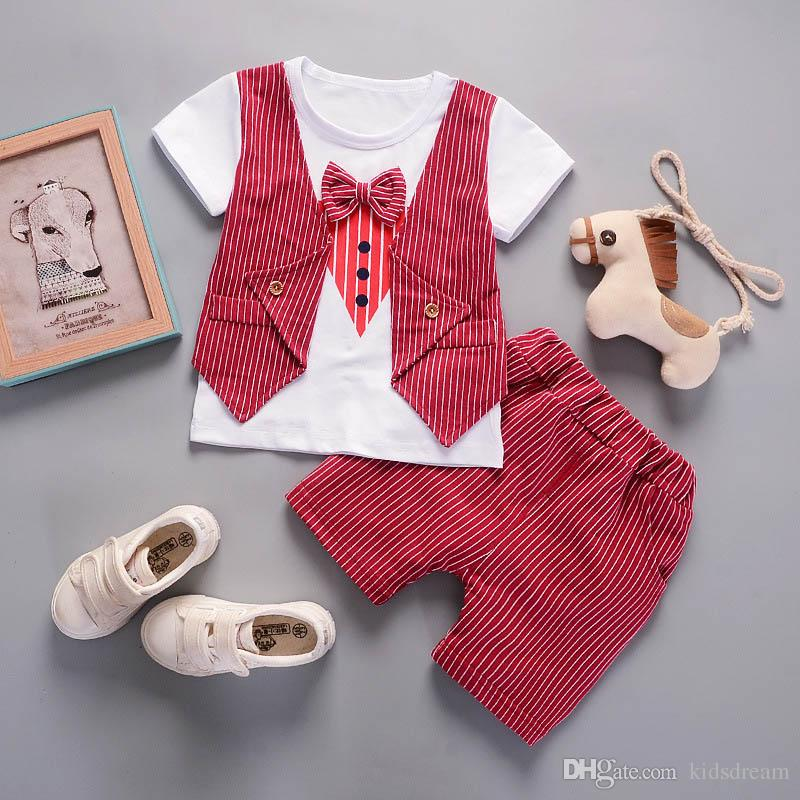 3f972e9685793 2018 New Baby Boys Vest Pant Toddler Outfits Sets Red Europe Style ...