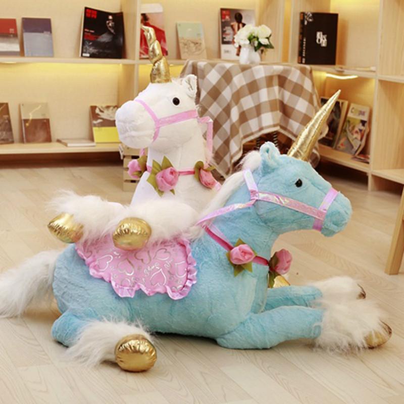 2019 100cm Jumbo Horse Plush Toys Giant Stuffed Animal Soft Doll