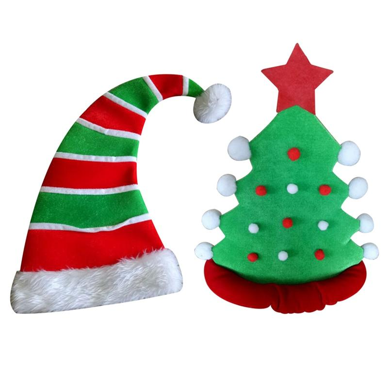 Großhandel Pentagram Samt Clown Elf Hut Weihnachtshut Weihnachtsbaum ...