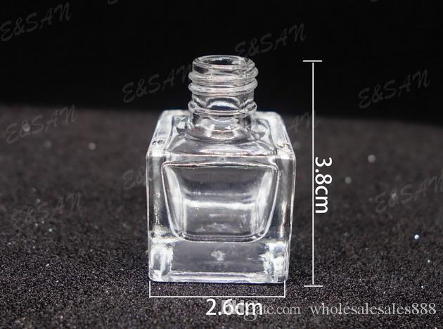 300 adet / grup 6 ml Asılı Araba Parfüm Şişeleri Araba Kolye Aksesuarları Şişe Boş Cam Şişe Ücretsiz Kargo
