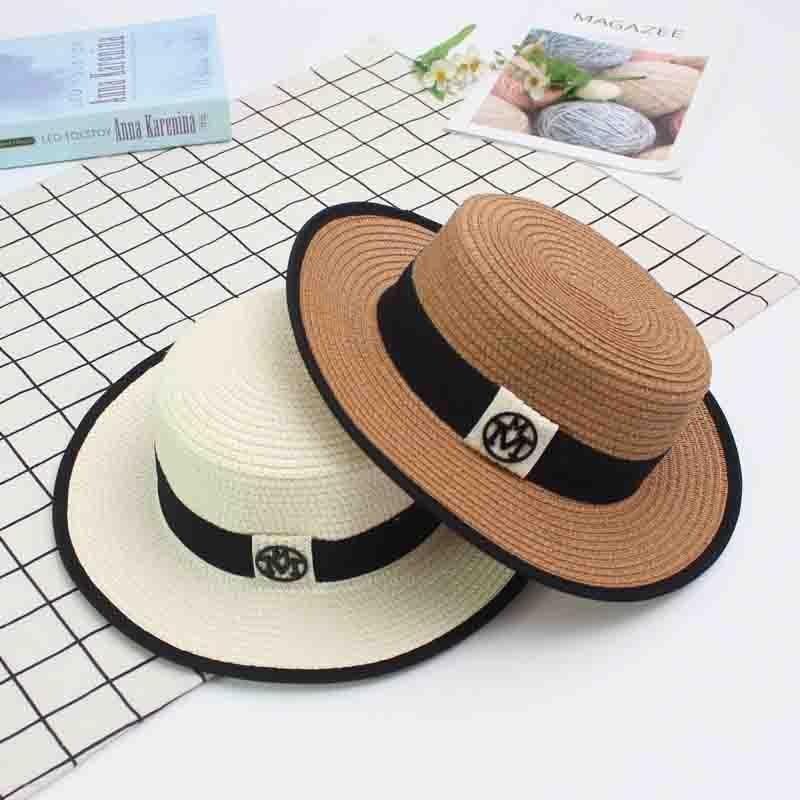Summer Fashion Ladies Sun Hats Travel Beach Straw Cap Flat Bottom Outdoor  Sports Hat Casual Caps Sale Headwear Felt Hat From Melontwo ad2ebc21b7ed