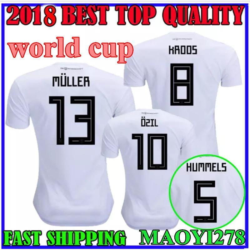 836c96cab 2018 GOTZE Football Jerseys KROOS OZIL World Cup Soccer Jersey ...