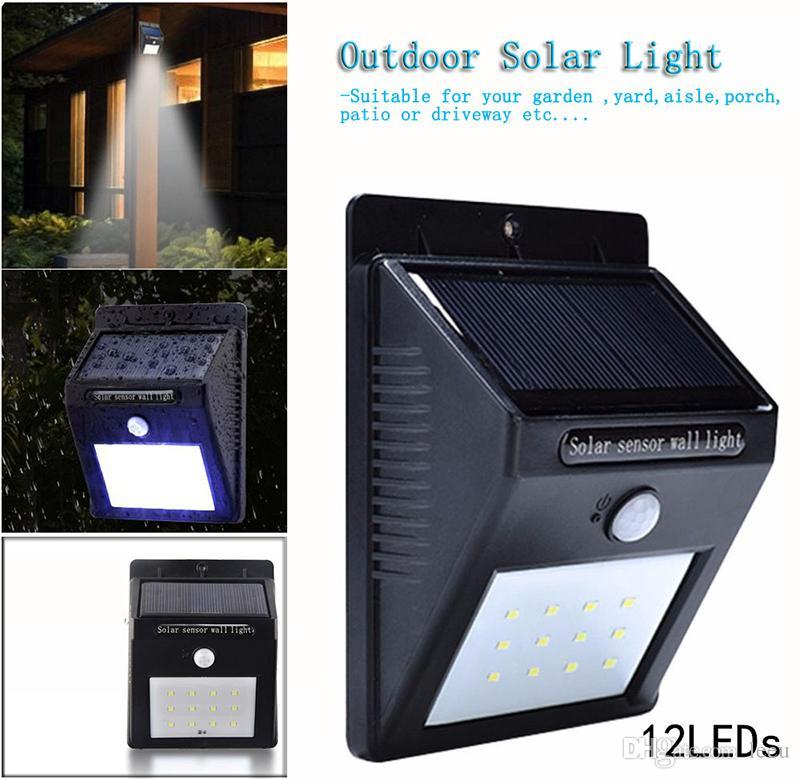 12/16/20/24/54 LEDs LED Energia Solar PIR Sensor de Movimento Da Parede Luz Ao Ar Livre À Prova D 'Água de Poupança de Energia Lâmpada de Segurança Do Jardim de Rua