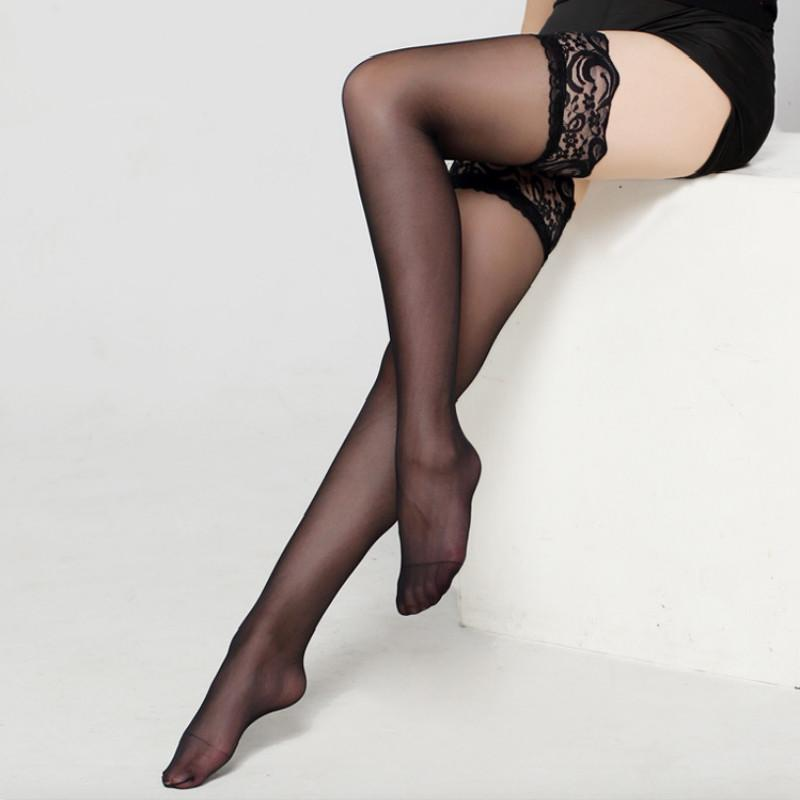 8606672f1 Sexy Womens Sheer Lace TopSilicone Non Slip Silicone Stocking Band Stay Up  Thigh High Stockings Pantyhose Lingerie Canada 2019 From Jerry2