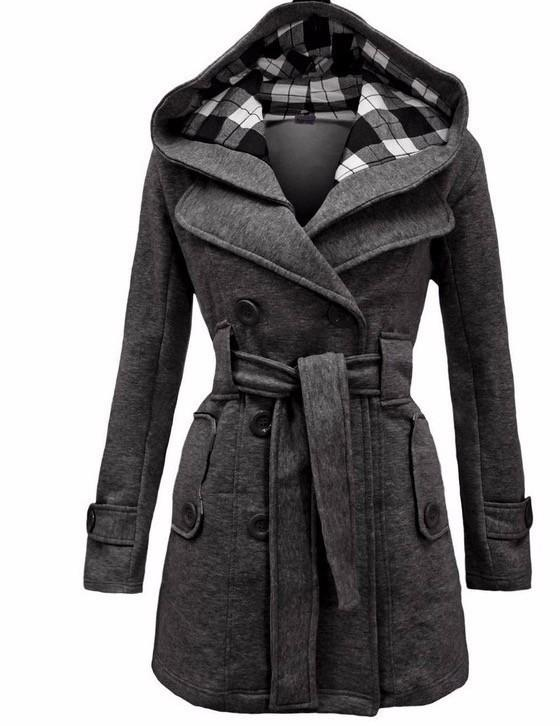 dd784baaef Sale Winter Jackets For Hooded Sweater Coat Women Double Breasted Cardigan  Jacket Stitching Long Woolen Coats With Belt Clothing Vestidos Spring Jacket  ...