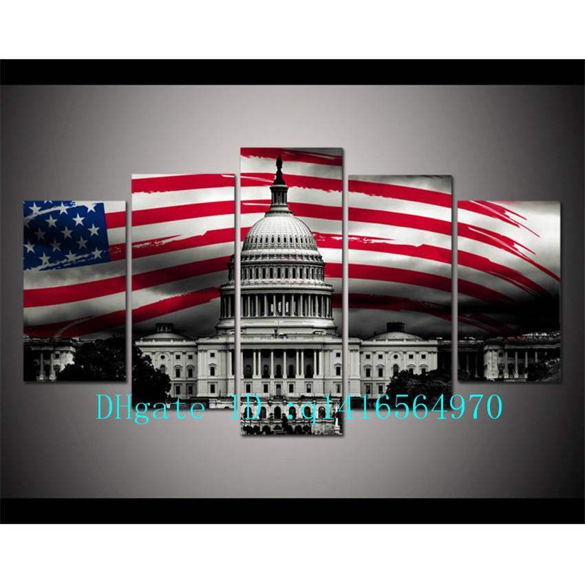 2018 July Independence Day Us Flag,Canvas Prints Wall Art Oil ...