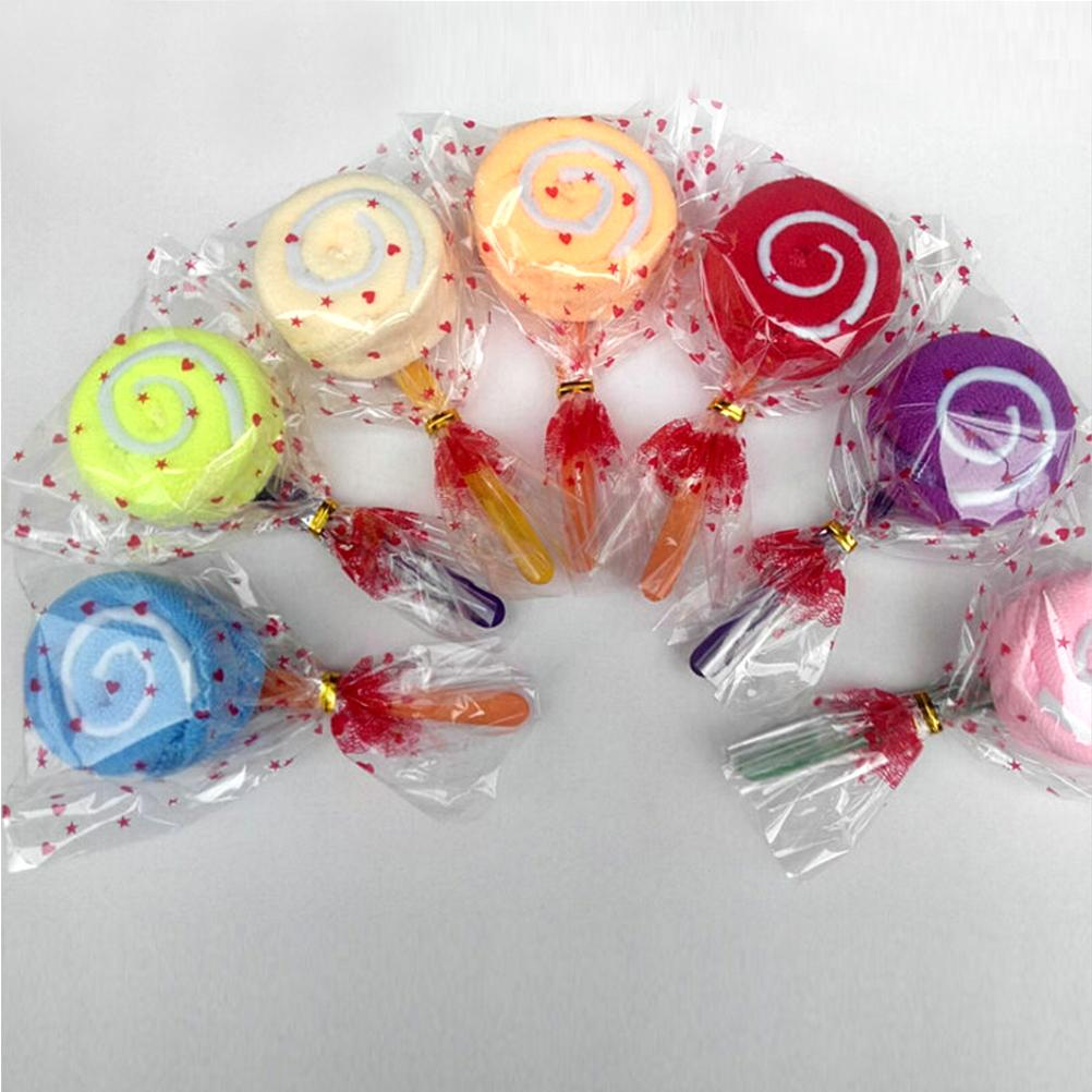 Cute Lollipop Candy Towel Washcloth Wedding Favor Baby Shower Gift
