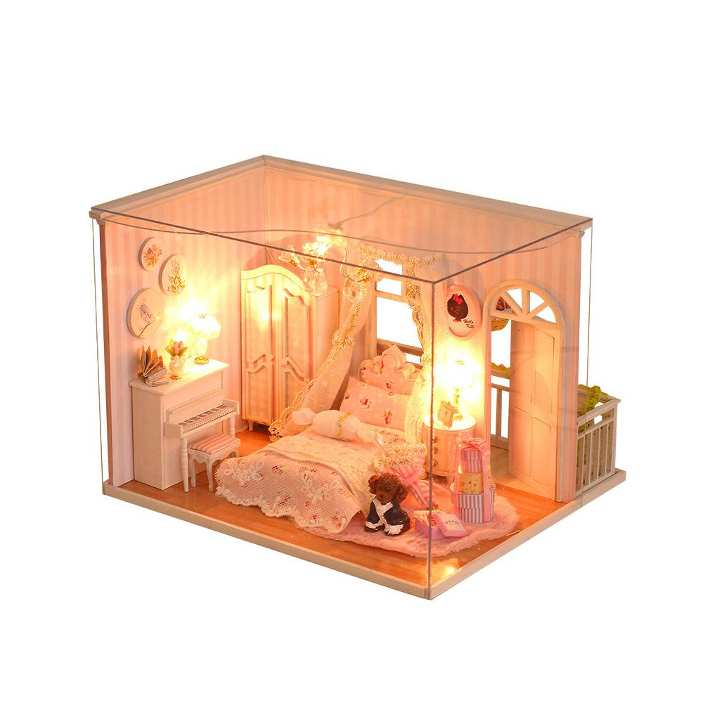 Diy Wooden Doll House Furniture Kits Toys Handmade Craft Model DollHouse  Kit Beautiful Toys Christmas Gift For Children Girl Wooden Doll House For  Sale ...