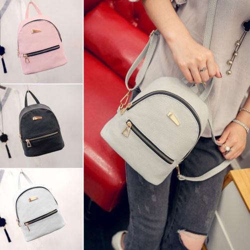 New Women Small Backpack Travel Mini PU Leather Girls Ladies Cute Backpacks  Shoulder Book School Bag Backpack Swissgear Backpack Swiss Backpack From  Flaky d96dd53924e0d