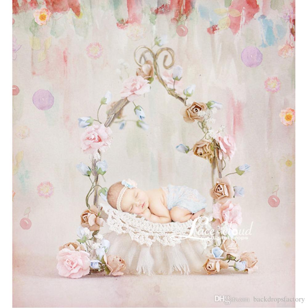 2019 baby newborn photography backdrop vinyl digital painting flowers kids children floral photo studio backgrounds wooden floor from backdropsfactory