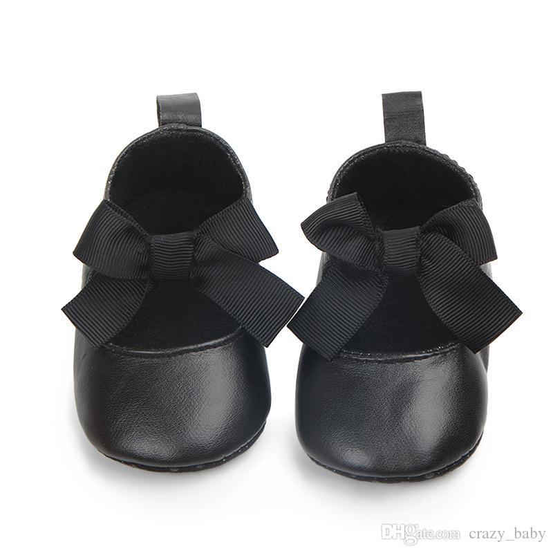 Новорожденные Детские Девушки Обувь PU Кожаная пряжка Первые Уокеры Большой Лук Летняя Принцесса Обувь Вечеринка Свадьба Обувь Девочка Девочка