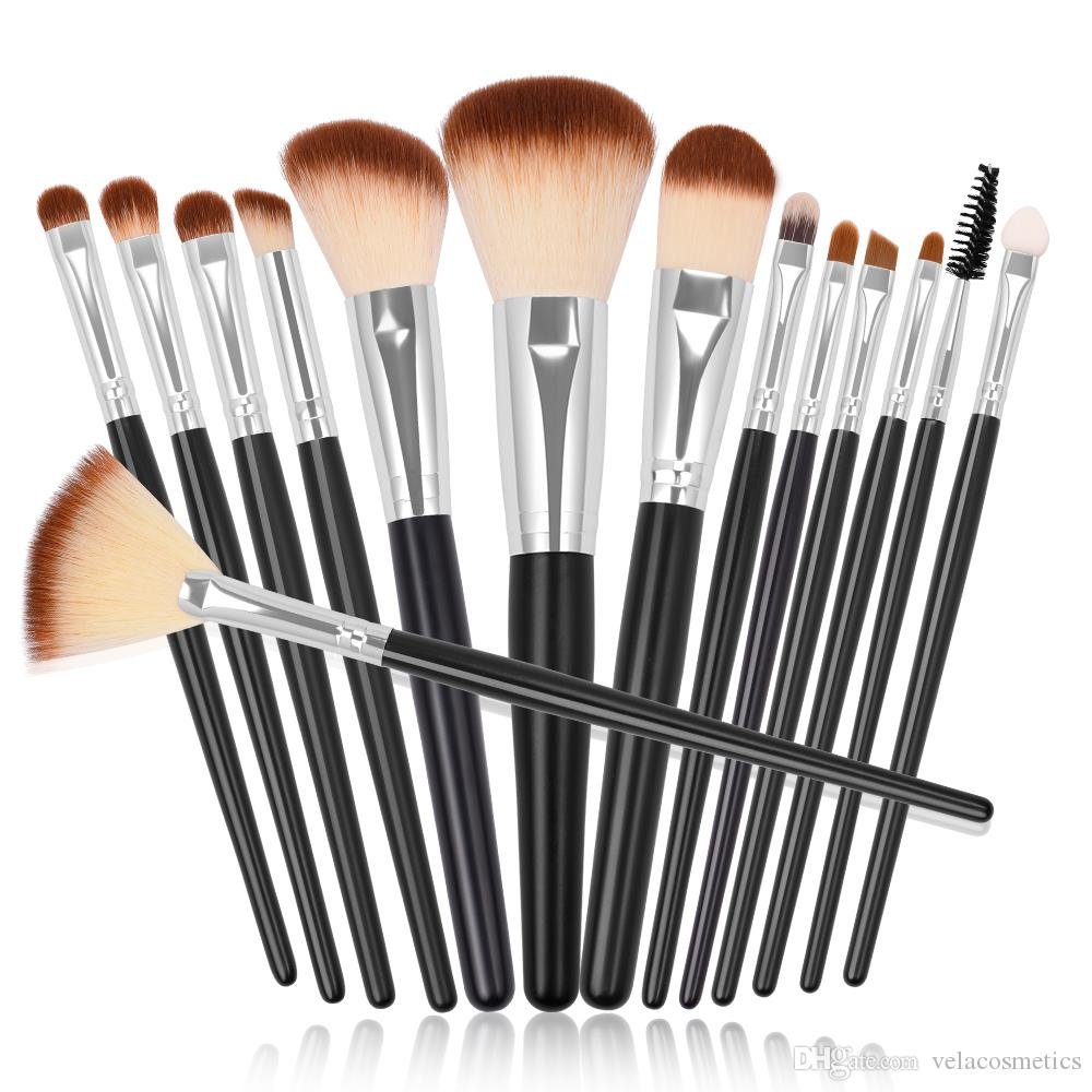 b6863482f7d Premium Makeup Brushes Set Soft Vegan Powder Foundation Blush Bronzer  Eyeshadow Eyeliner Eyelash Eyebrow Lipgloss Cosmetics Tools Kit Permanent  Makeup ...