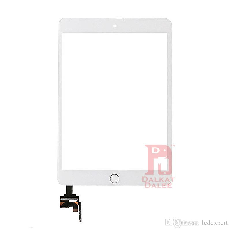 Glass For iPad Mini 3 Screen Replacement Front Touch Screens Digitizer with IC Connector and Home Button Adhesive Camera Holder