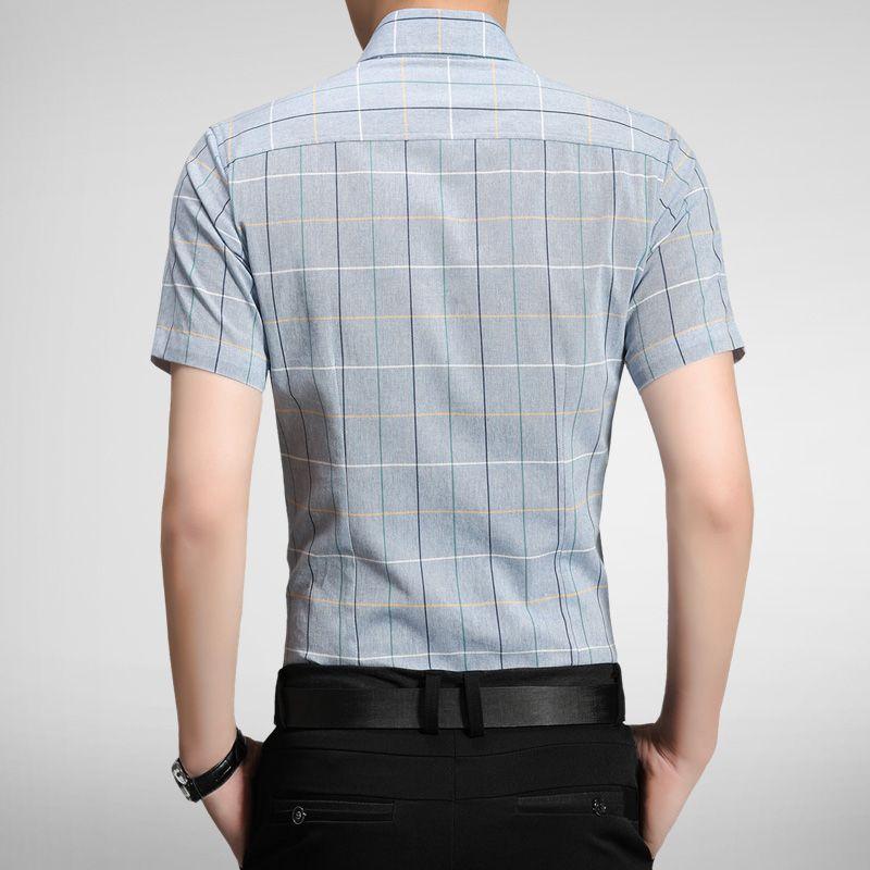 Cotton Slim Fit 5XL Mens Shirts 2017 New Men Short Sleeve Shirt High Quality Casual Plaid Mens Dress Shirts Camisa Masculina
