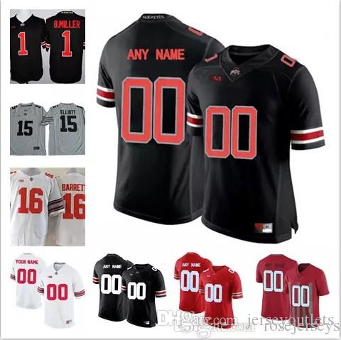 cb8f1e5164b ... online cheap custom mens youth ohio state buckeyes college football  white red black personalized kid