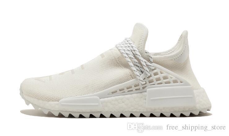 26aed09634902 Hot Sale Human Race Running Shoes Pharrell Williams Hu Trail Cream ...