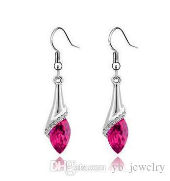 Cristal Natural Forma de Caballo Pendientes de diamantes de imitación Swarovski Elements es opcionales de moda clase mujeres niñas regalo de la joyería