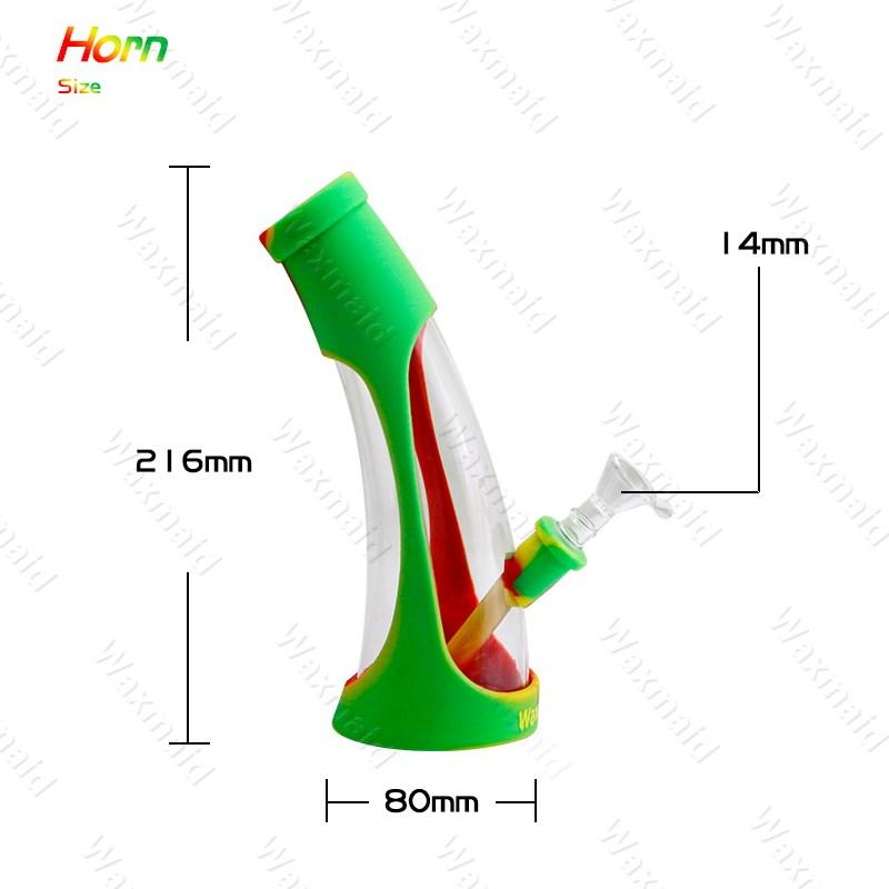 Silicone Dab Rigs FDA Silicone + Glass Water Bongs Waxmaid New Beaker Bongs For Choose With Bowl Factory Outlet DHL