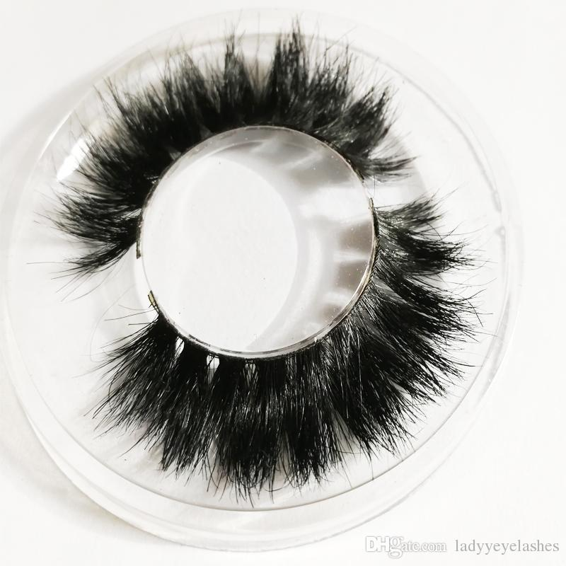LH-007 private logo package Black Real Horse Hair Thick Fake Eye Lashes false lashes natural Horse hair natural long thick cross messy lash