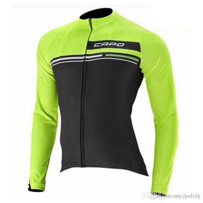 New Capo Men Cycling Jerseys Pro Team Long Sleeve Cycling Clothing ... 30a42bcf9