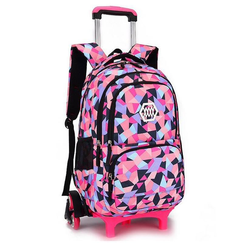 8c72b0e754f4 Removable Children School Bags With 2 6 Wheels For Girls Trolley Backpack  Kids Wheeled Bag Bookbag Travel Luggage Rucksack Y18110107 Cool Backpack  Companies ...