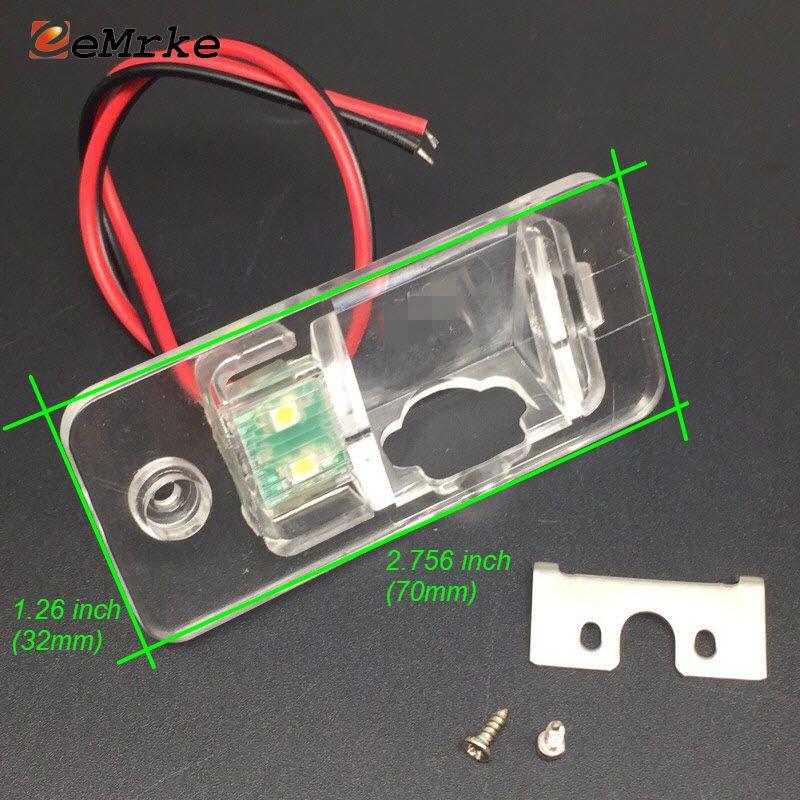 EEMRKE Car Rear Camera Bracket Supporto targa luci Custodia Audi A4 A4L 8H 8E A8 4H Q7 4L