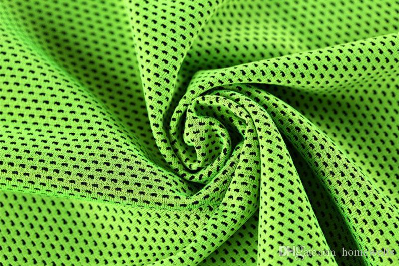 Ice Cool Towel New Cold Endurable Бег Бег Тренажерный зал Chilly Pad Мгновенное охлаждение Спорт на открытом воздухе Quick Dray Мягкий дышащий охлаждающее полотенце