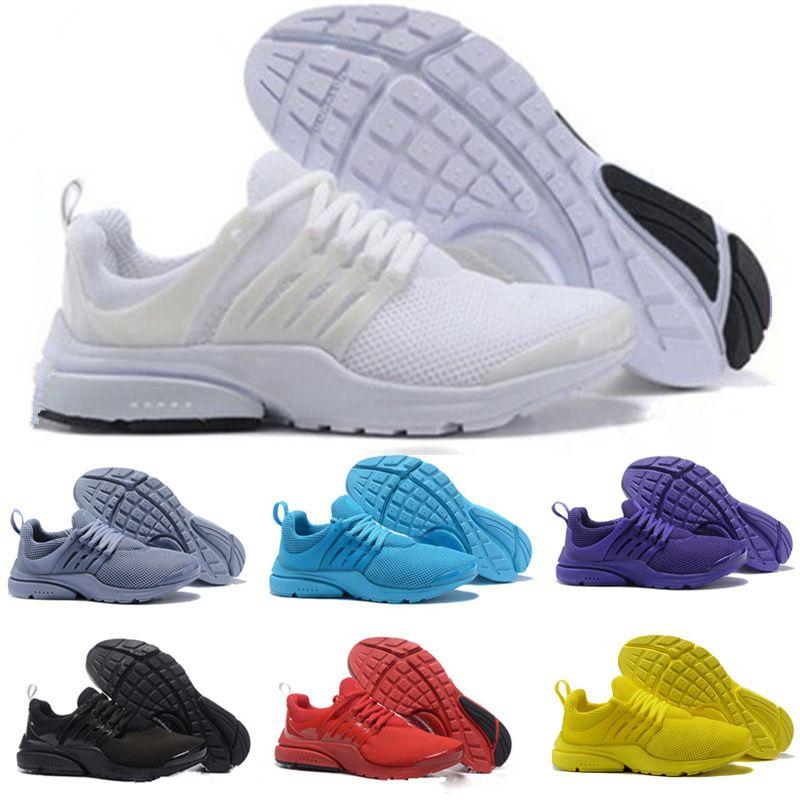 b8ac2cc6f0c64 Compre 2018 Nike Air Presto 5 Ultra BR QS Negro Blanco Todo Amarillo Púrpura  Rojo Gris Zapatos Para Mujeres Hombre Top Prestos V Casual Deportes  Zapatillas ...